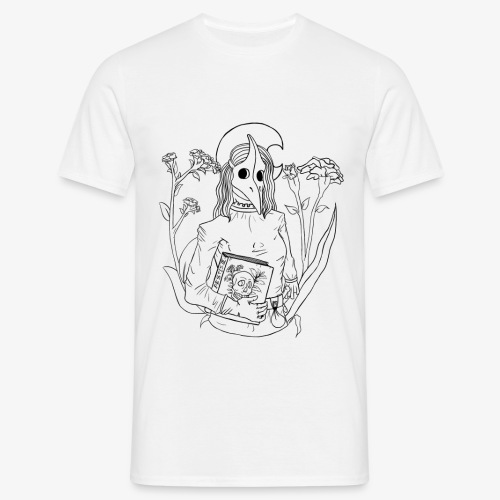 Pest Maske / plague mask lineart - Männer T-Shirt