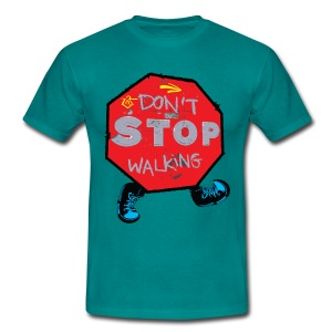 Don't stop walking  camino Men's T-Shirt - Men's T-Shirt