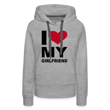 Grau meliert I love my girlfriend - eushirt.com Pullover