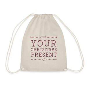 "Bag ""I'm your christmas present"" - Turnbeutel"