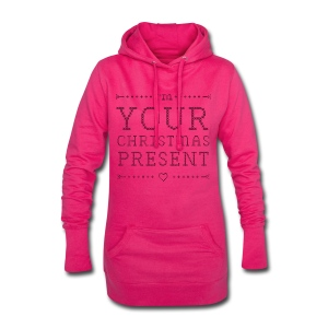 "Long Hoody Girls ""I'm your christmas present"" - Hoodie-Kleid"