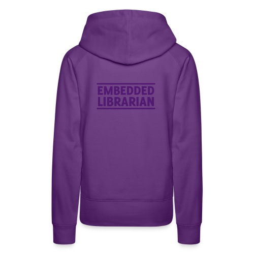 damen-hoodie lila mit lila flock-druck - Frauen Premium Hoodie