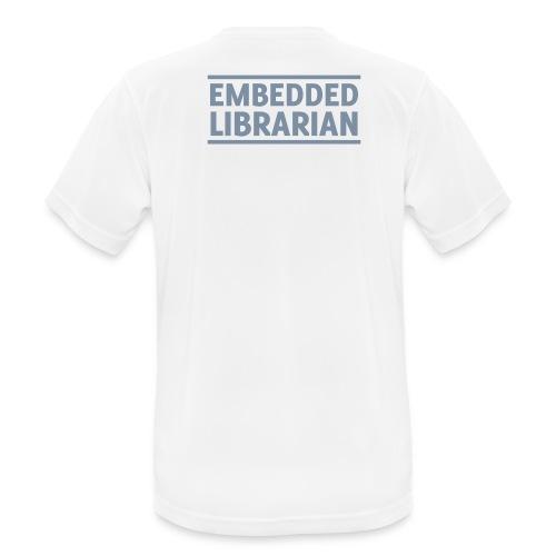 herren-t-shirt atmungsaktiv weiß mit silbernem druck - Männer T-Shirt atmungsaktiv