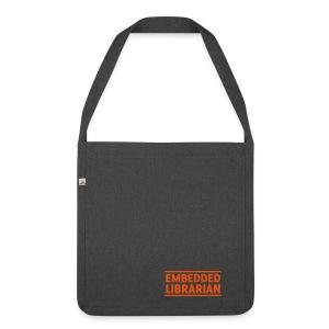 schultertasche anthrazit mit orangenem flock-druck - Schultertasche aus Recycling-Material