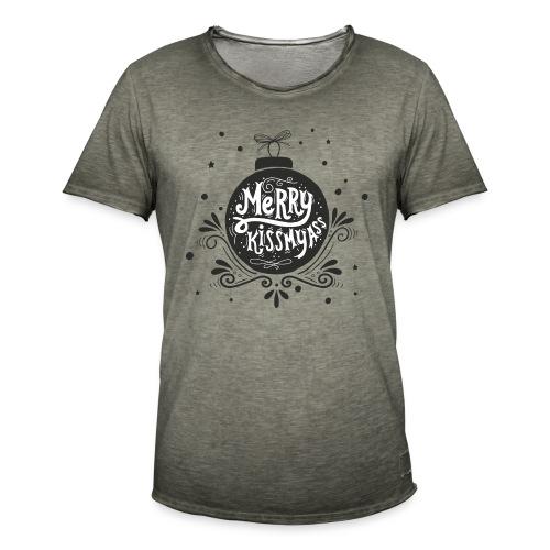 "Vintage T-Shirt Boys ""Merry kismyass"" - Männer Vintage T-Shirt"