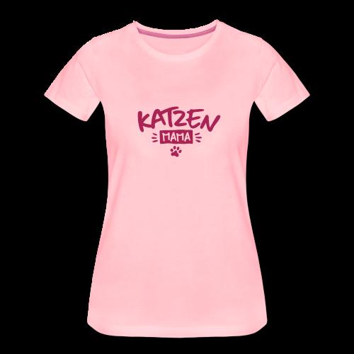 Katzenmama - Frauen Premium T-Shirt