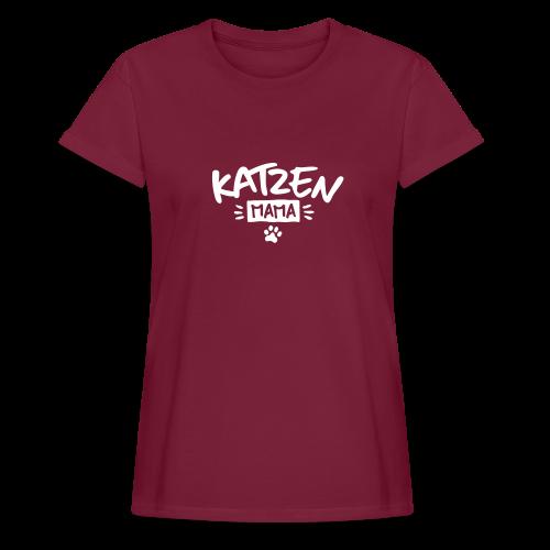 Katzenmama - Frauen Oversize T-Shirt