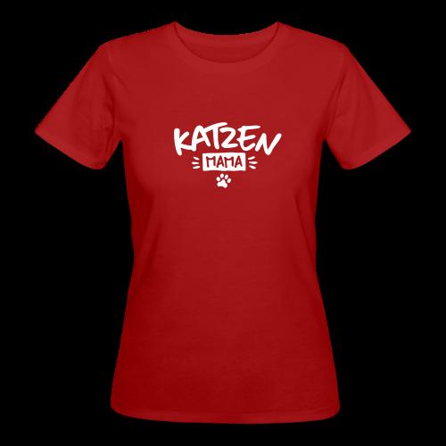 Katzenmama - Frauen Bio-T-Shirt