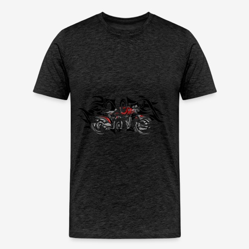 Tshirt H Motorcycle Caferacer Tribal Fire - T-shirt Premium Homme
