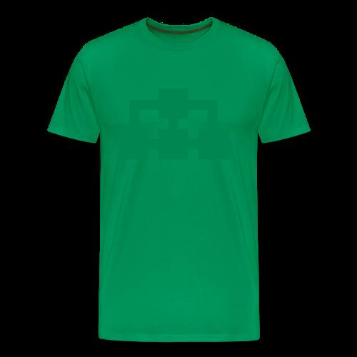T-shirt grön (ikon fram & bak) - Premium-T-shirt herr