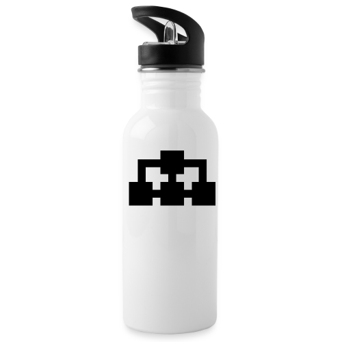 Vattenflaska (vit+svart) - Vattenflaska