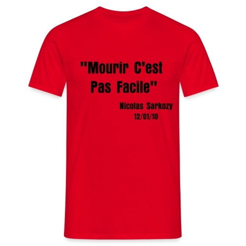 Tshirt Rouge AA - T-shirt Homme