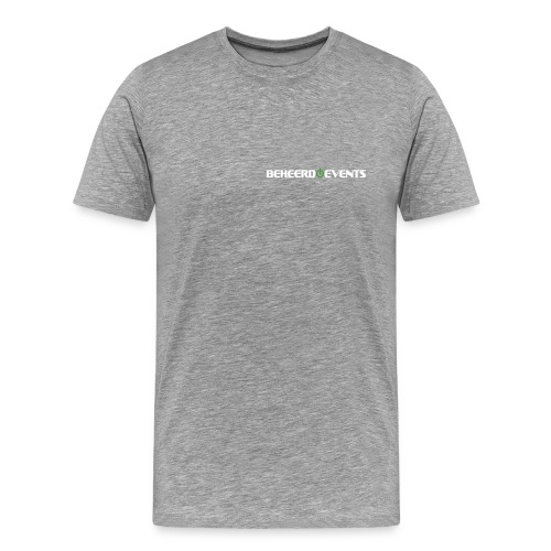 Beheerd met ruglogo - Mannen Premium T-shirt