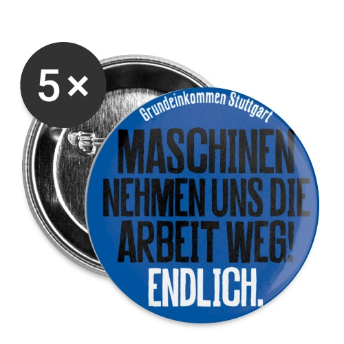 Button Maschinen - Buttons groß 56 mm (5er Pack)