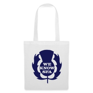We Know SFA Thisle - BluePrint on White Tote - Tote Bag