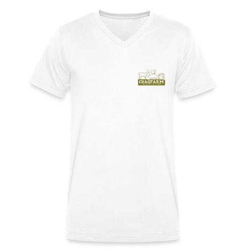 chagfarm t-shirt (no words on back) - Men's Organic V-Neck T-Shirt by Stanley & Stella