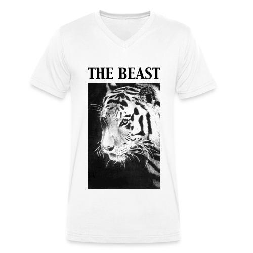 The Beast - Mannen bio T-shirt met V-hals van Stanley & Stella