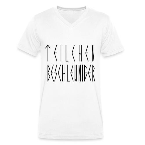 TEILCHEN BESCHLEUNIGER - V-NECK MEN - WHITE - Männer Bio-T-Shirt mit V-Ausschnitt von Stanley & Stella