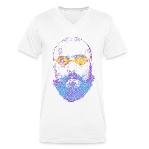 Goggle man - Men's Organic V-Neck T-Shirt by Stanley & Stella