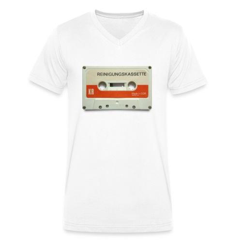 vintage tape: reinigungskassette - Men's Organic V-Neck T-Shirt by Stanley & Stella
