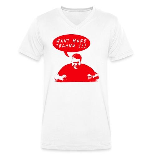 Want More Techno Shirt - Männer Bio-T-Shirt mit V-Ausschnitt von Stanley & Stella