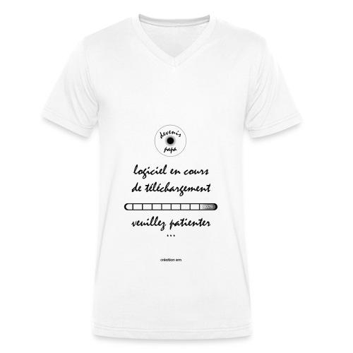Tshirt devenir papa - T-shirt bio col V Stanley & Stella Homme