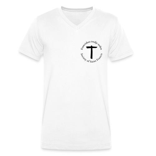 V-ringad Herrtröja svart tryck - Ekologisk T-shirt med V-ringning herr från Stanley & Stella