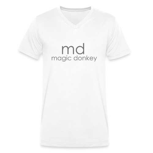 MD V Neck - White - Men's Organic V-Neck T-Shirt by Stanley & Stella