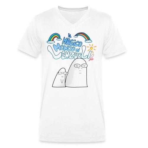 Il Magico Mondo di Lenzuoli - T-shirt ecologica da uomo con scollo a V di Stanley & Stella