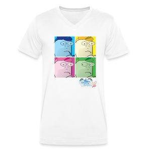 Commissario Warhol a V - T-shirt ecologica da uomo con scollo a V di Stanley & Stella