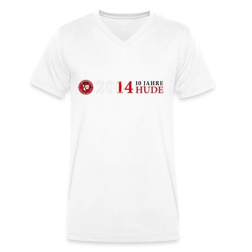 10 Jahre HUDE Logo - Männer Bio-T-Shirt mit V-Ausschnitt von Stanley & Stella