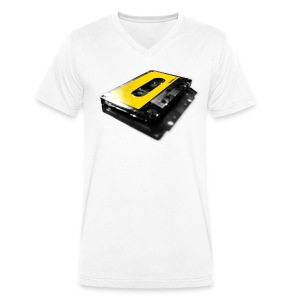 shadow tape: yellow - Men's Organic V-Neck T-Shirt by Stanley & Stella