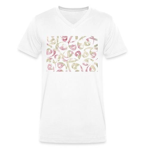 Floral Vav Tshirt V -M - Men's Organic V-Neck T-Shirt by Stanley & Stella