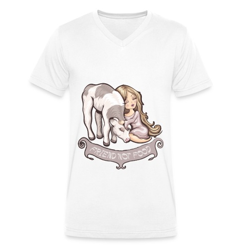 Friend not Food - T-shirt bio col V Stanley & Stella Homme