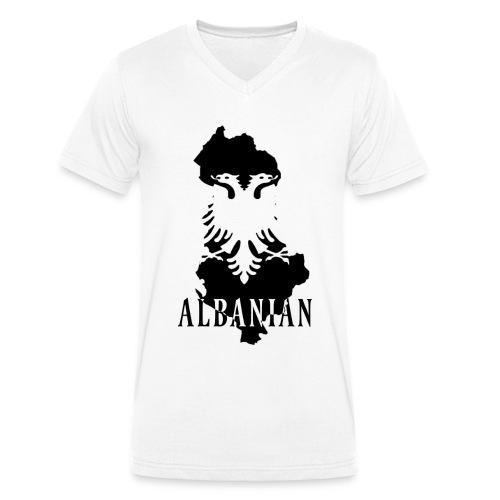 Albanian Flag // V-Kragen in weiß - Männer Bio-T-Shirt mit V-Ausschnitt von Stanley & Stella