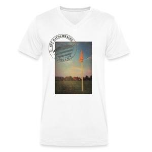 Männer Sportplatz  - V-Shirt Weiß - Männer Bio-T-Shirt mit V-Ausschnitt von Stanley & Stella