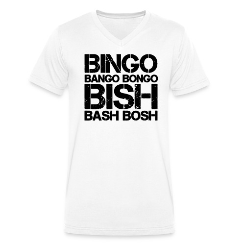 Bingo Bango Bongo - Ekologisk T-shirt med V-ringning herr från Stanley & Stella