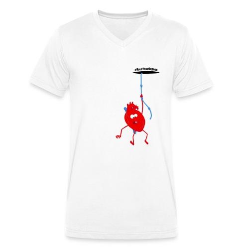 Michel le Cœur - Homme - T-shirt bio col V Stanley & Stella Homme