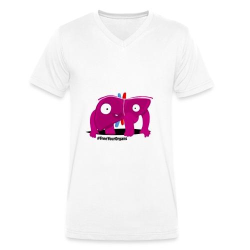 Gérard le Foie - Homme - T-shirt bio col V Stanley & Stella Homme