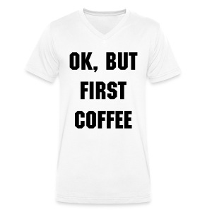 Coffee 'N Quotes - Men's shirt - Men's Organic V-Neck T-Shirt by Stanley & Stella