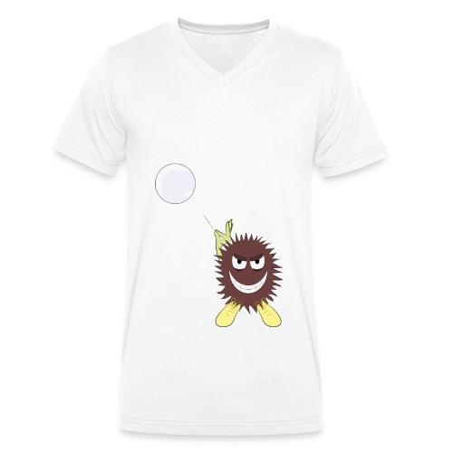 Monster vs Bubble - Männer Bio-T-Shirt mit V-Ausschnitt von Stanley & Stella