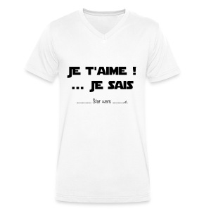 T-Shirt Homme Je t'aime - T-shirt bio col V Stanley & Stella Homme