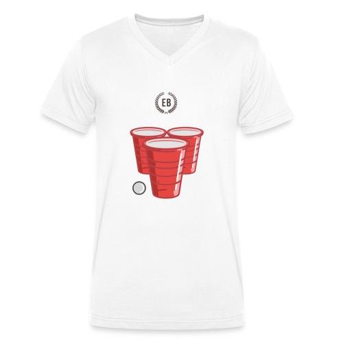 """€B T-Shirt """"Beer Pong"""" - Männer Bio-T-Shirt mit V-Ausschnitt von Stanley & Stella"""