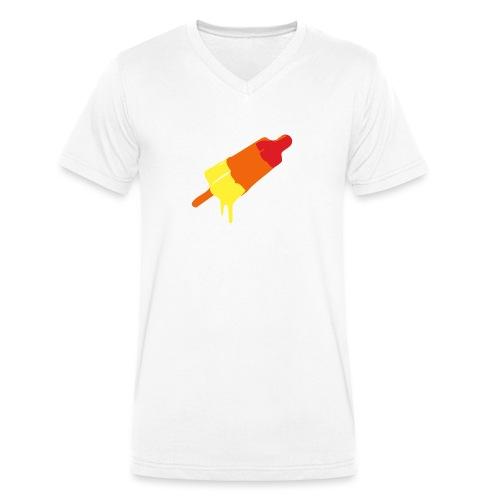 Raket mannen v-hals bio - Mannen bio T-shirt met V-hals van Stanley & Stella