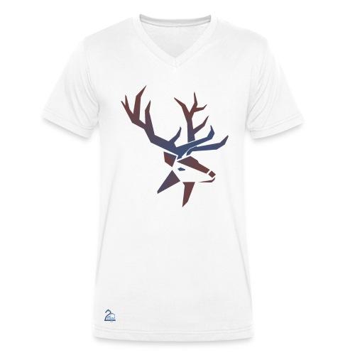 Hirsch [m] - Männer Bio-T-Shirt mit V-Ausschnitt von Stanley & Stella