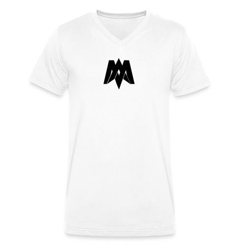 Mantra Fitness V-Neck (White) - Men's Organic V-Neck T-Shirt by Stanley & Stella