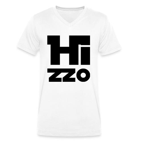 Männer V-Shirt white HIZZO black - Männer Bio-T-Shirt mit V-Ausschnitt von Stanley & Stella