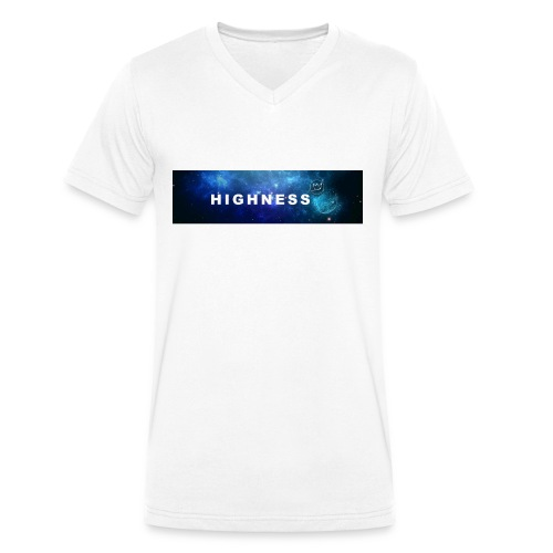 T-Shirt BLUE Space by HIGHNESS (recommended) - T-shirt bio col V Stanley & Stella Homme