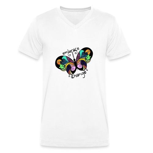 Embrace Change - Men's Organic V-Neck T-Shirt by Stanley & Stella