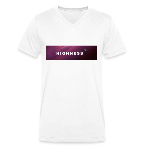 T-Shirt RED Space by HIGHNESS (recommended) - T-shirt bio col V Stanley & Stella Homme